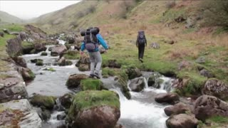 Backpacker Fails At Crossing A River - Video