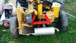Diy - homemade machine for cutting  firewood - Video