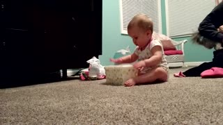 Baby girl is a drumming prodigy - Video