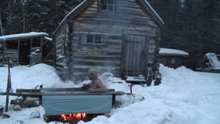 How to make a homemade hot tub outdoors! - Video