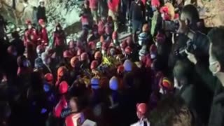 Dramatic moment 14-year-old girl is pulled from Turkey rubble after 58 hours