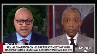 Rev. Al Sharpton talks about breakfast with Michael Cohen
