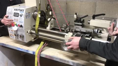 """moving a HEAVY """"metal lathe"""" into place"""