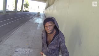 Social Experiment Gone Wrong: Man Tries to Give A Homeless Pizza & $100. - Video