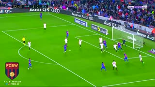 El segundo gol de Messi vs Sevilla - Video