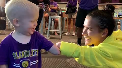 Boy With Missing Hand Meets Pro Soccer Star Missing Her Right Hand
