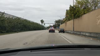 Police Pursue Car for Miles and Miles