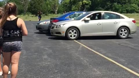 Extremely Talented Tumblers Flip Over Three Vehicles
