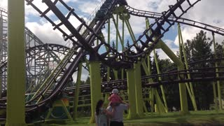 Russian attraction - roller coaster - Video