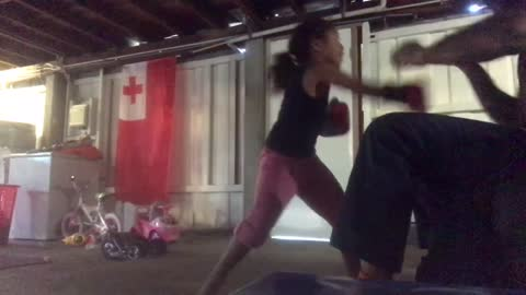 5-year-old girl trains with dad to become professional boxer
