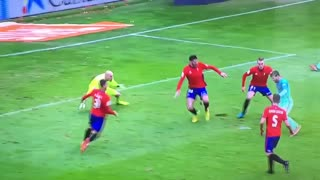 Messi dribbles all defenders and scores an amazing goal - Video