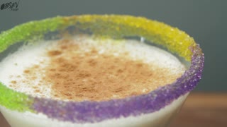 How To Make A Mardi Gras Martini - Full Recipe - Video