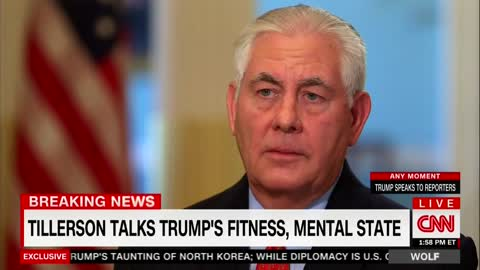 CNN Asks Tillerson About Trump's Unstable Mental Fitness — He Blasts a Hole in the Narrative