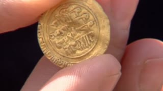 Golden treasure found off Israel's coast