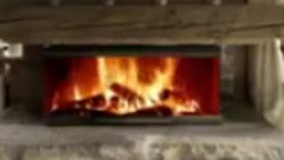 A warm fireplace to warm up on a cold winters night