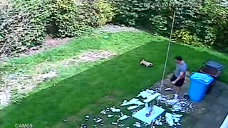 Table Explodes in Man's Hands - Video