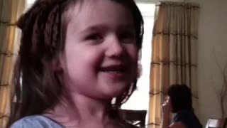 cute Welsh girl singing Irish national anthem - Video