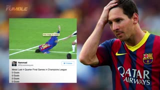 Lionel Messi ROASTED on Twitter After Faceplant and Shutout Loss to Juventus - Video