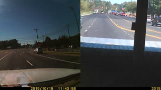 Red Light Runner Hit By Truck - Video