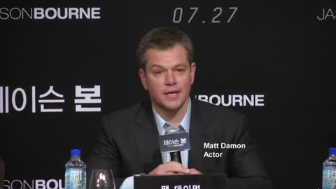 Matt Damon promotes Jason Bourne in Seoul