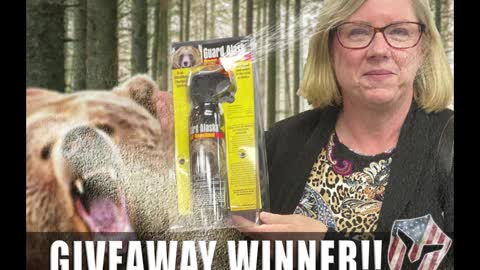 Look behind you! Another Freedom Network Winner - with Bear Spray!