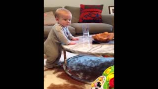 Rebel baby doesn't follow the rules - Video