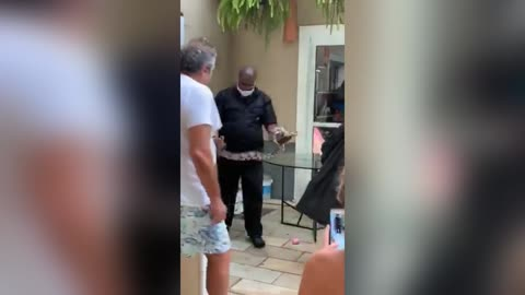 Boa Constrictor Tries To Slither Into Family Home