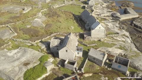 Magnificent drone footage captures deserted island village in Ireland