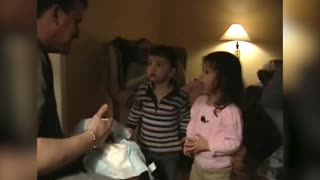 Dad Pranks Kids with Cake-Filled Diaper - Video