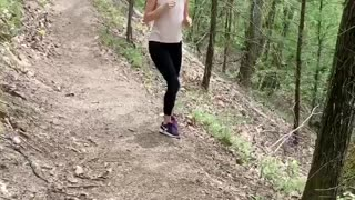 Sneaking Past Snake Scares Woman