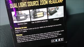 Boruit High Power Dual Light Headlamp Video Review - Video