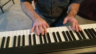 Rudolf the red nosed reindeer keyboard and vocals