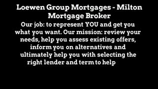 mortgage rates milton - Video