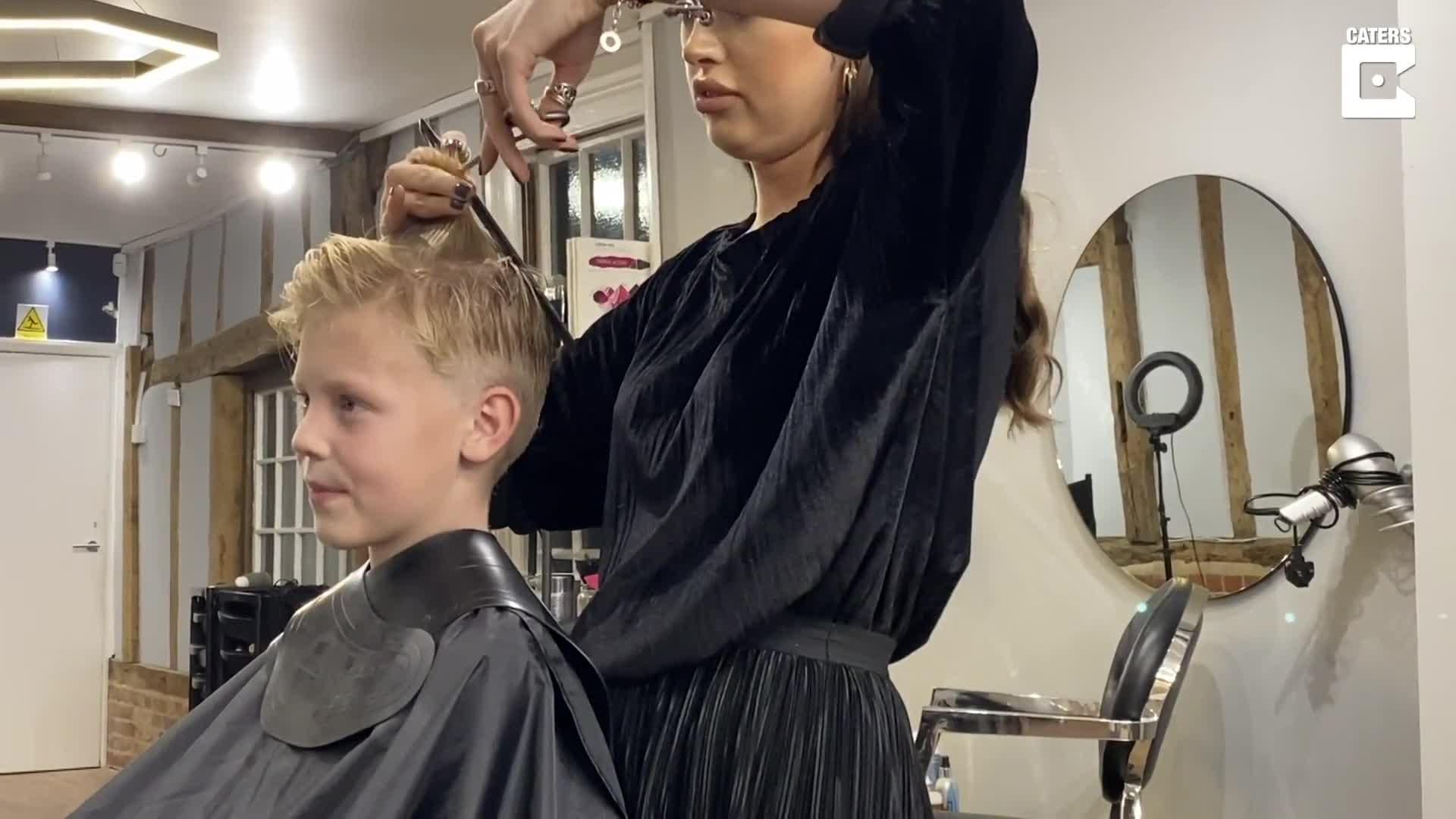 SCHOOLBOY TEASED FOR LONG LOCKS UNVEILS 18 MONTH SECRET AFTER PLEDGING TO HELP WIG CHARITY LAST YEAR