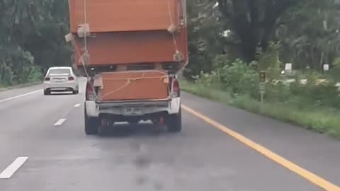 Pickup is Carrying Quite the Massive Load
