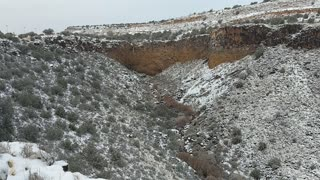 Snow on the Mesa in New Mexico
