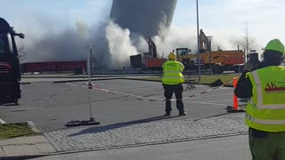 Vordingborg Silo Demolition Fail - Video