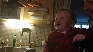 Adorable baby's laughter is extremely contagious