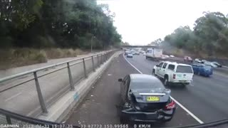 Cut Off Causes Accident - Video