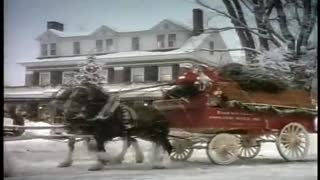 1987 Budweiser Clydesdale Holiday Commercial – Happy Holidays Everyone! - Video