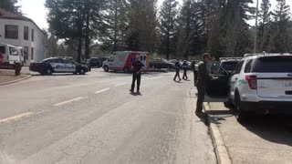 Man With Body Armor, Automatic Weapon Takes Hostages in California Veteran's Home - Video