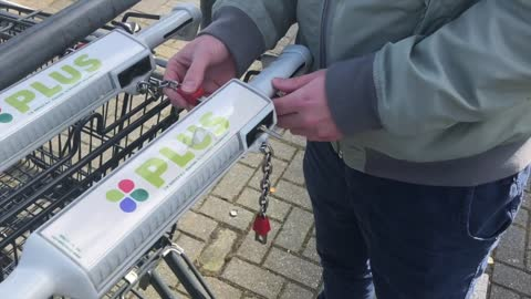 Winkelwagentje gebruiken met sleutel - How to use a key instead of a coin for your shopping cart