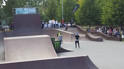 After Ignoring A Security Guard At A BMX Event, Rider Instantly Gets Taught A Priceless Lesson