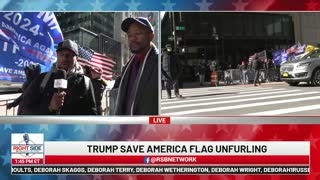 Trump Save America Flag Unfurling: New York City