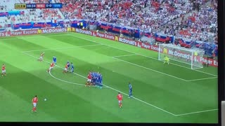 Gareth Bale stunning free kick goal vs Slovakia - Video