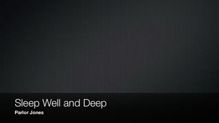 Sleep Well and Deep - Official Music Video by Parlor Jones