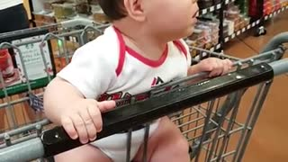 Watch Baby checking out girls at grocery store