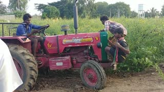 Amazing Tractor stunt in My Village mahindra 575 tractor My Village Life