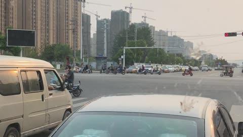Scooters scooters everywhere... in China