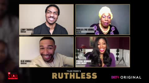 "RUTHLESS cast Blue Kimble, Lenny Thomas & Baadja-Lynne Odums says Season 2 ""ratchets-up"" a notch"